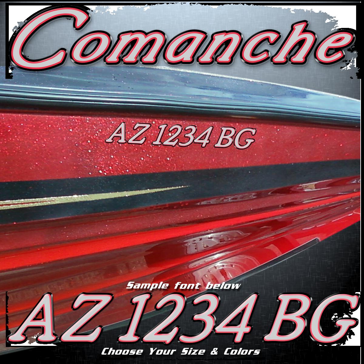 Ranger Comanche Font Registration, Choose Your Colors (2 included)