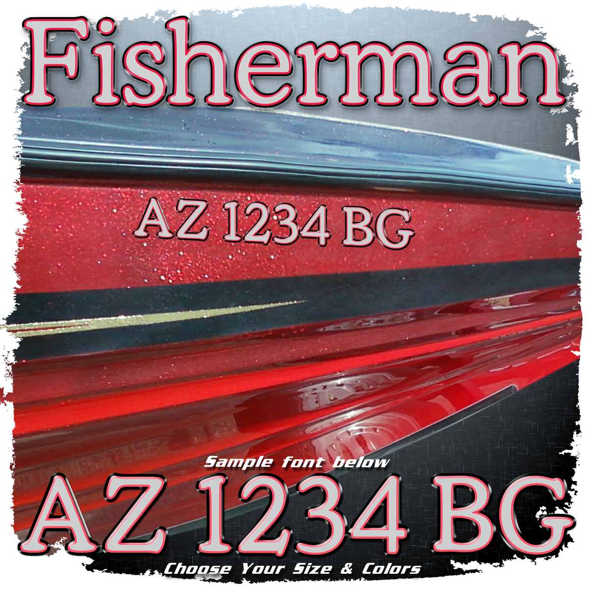 Ranger Fisherman Font Registration, Choose Your Colors (2 included)