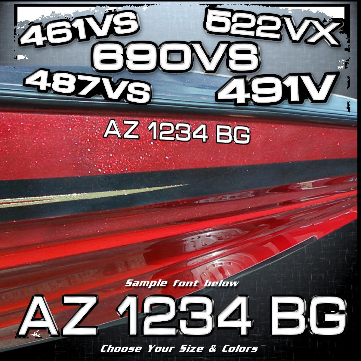 Ranger Model Number Font Registration, Choose Your Colors (2 included)