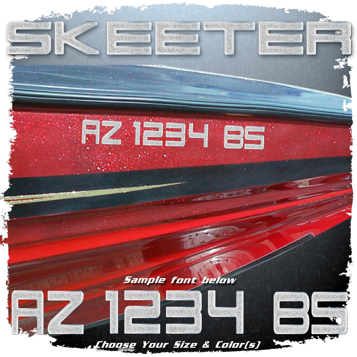 Skeeter Registration, Choose 1 or 2 Colors  (2 included)