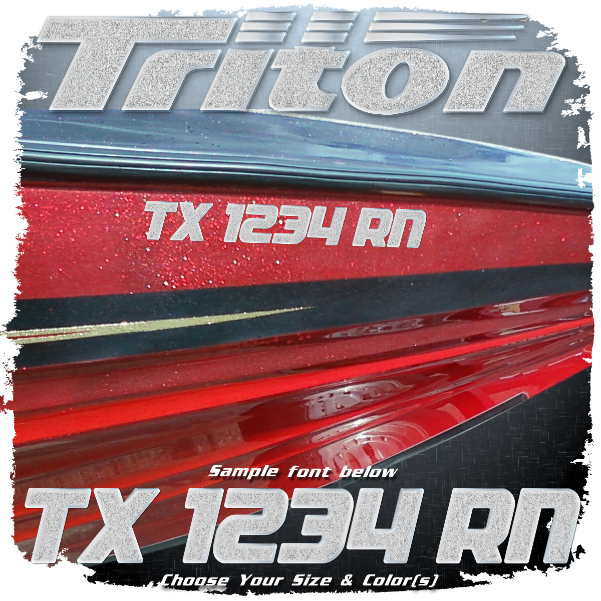 Triton Registration, Choose Your Colors (2 included)
