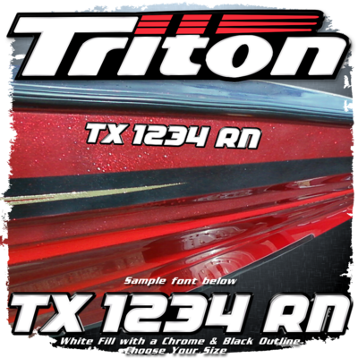 Triton Factory Matched White, Chrome & Black Registration (2 included)