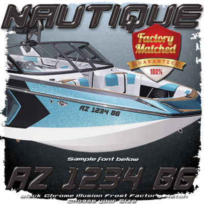 Nautique Registration (2 included), Black Chrome Illusion Frost