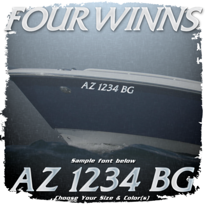 Four Winns Registration (2 included), Choose Your Own Colors