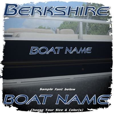 Domed Boat Name in the Berkshire Font, Choose Your Own Colors