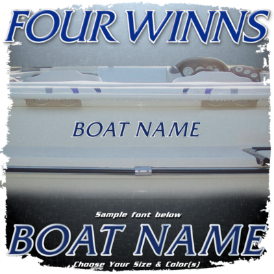 Domed Boat Name in the Four Winns Font, Choose Your Own Colors