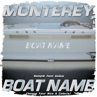 Domed Boat Name in the Monterey Font, Choose Your Own Colors