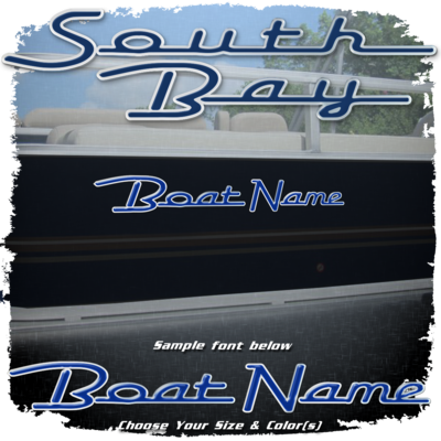 Domed Boat Name in the South Bay Font, Choose Your Own Colors