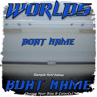 Domed Boat Name in the Supra Worlds Font, Choose Your Own Colors
