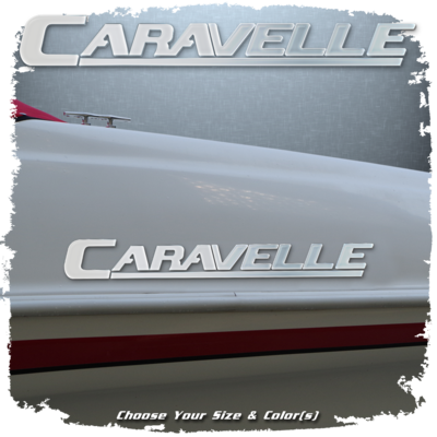 Domed Caravelle Decal, Choose Your Size & Colors