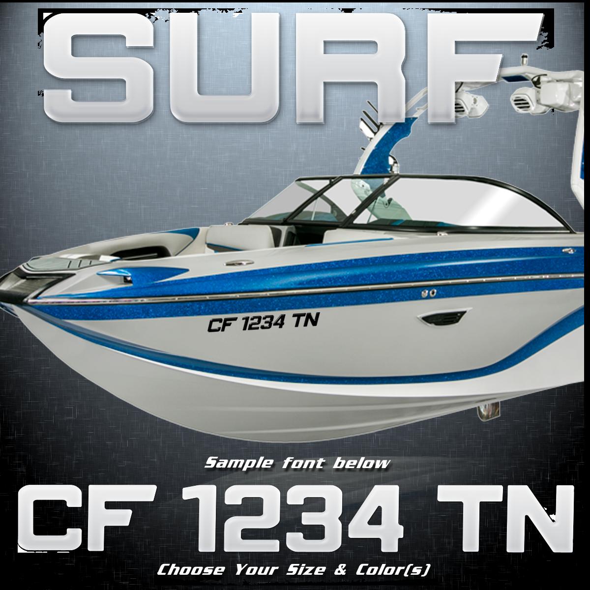 Centurion Surf 2012-17 Registration (2 included), Choose Your Own Colors