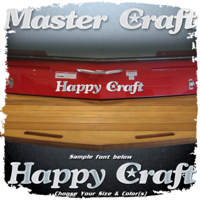 Domed Boat Name in the Vintage MasterCraft Font, Choose Your Own Colors
