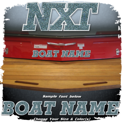 Domed Boat Name in the MasterCraft NXT Font, Choose Your Own Colors