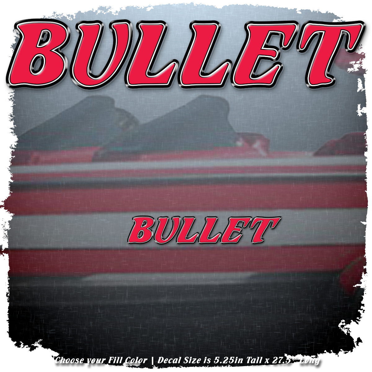 Domed Bullet Decal Set, Choose Your Size and Color (2 included)