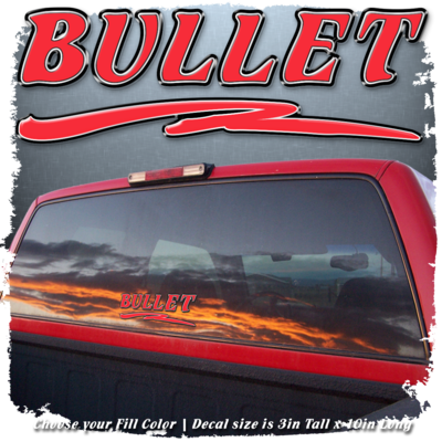 Domed Bullet w/ Swoosh Decal, Choose your Fill Color