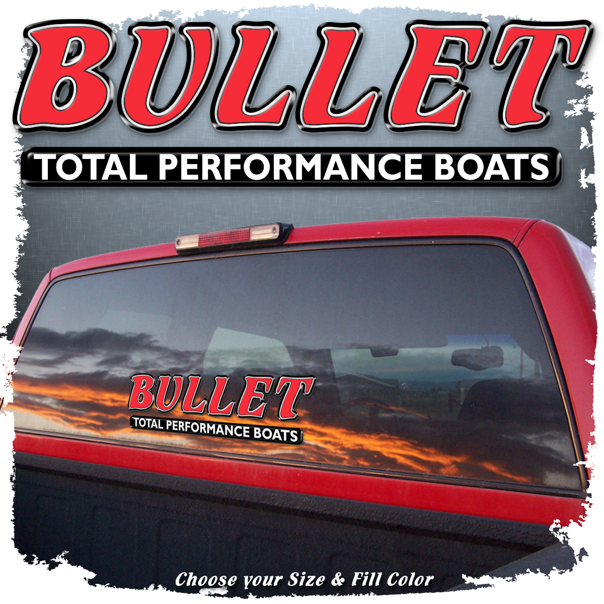 """Domed Bullet """"Total Performance"""" Decals, Choose Your Size & Color"""