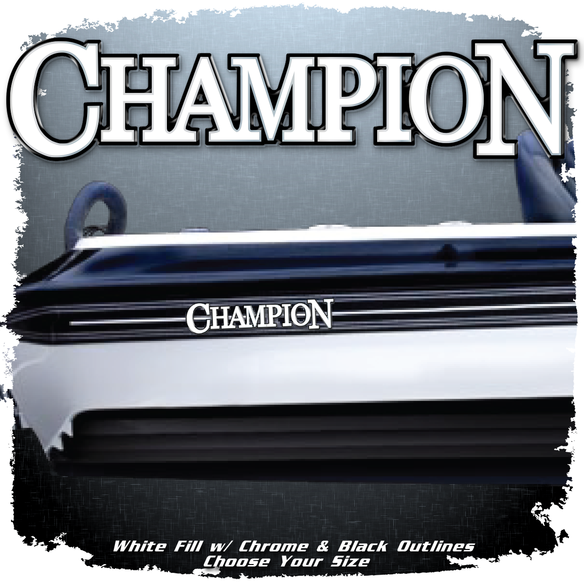 Champion Boats Flat Vinyl (1 Decal Included)