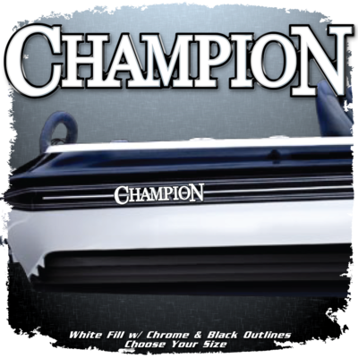 Champion Boats Domed Decal (1 Decal Included)