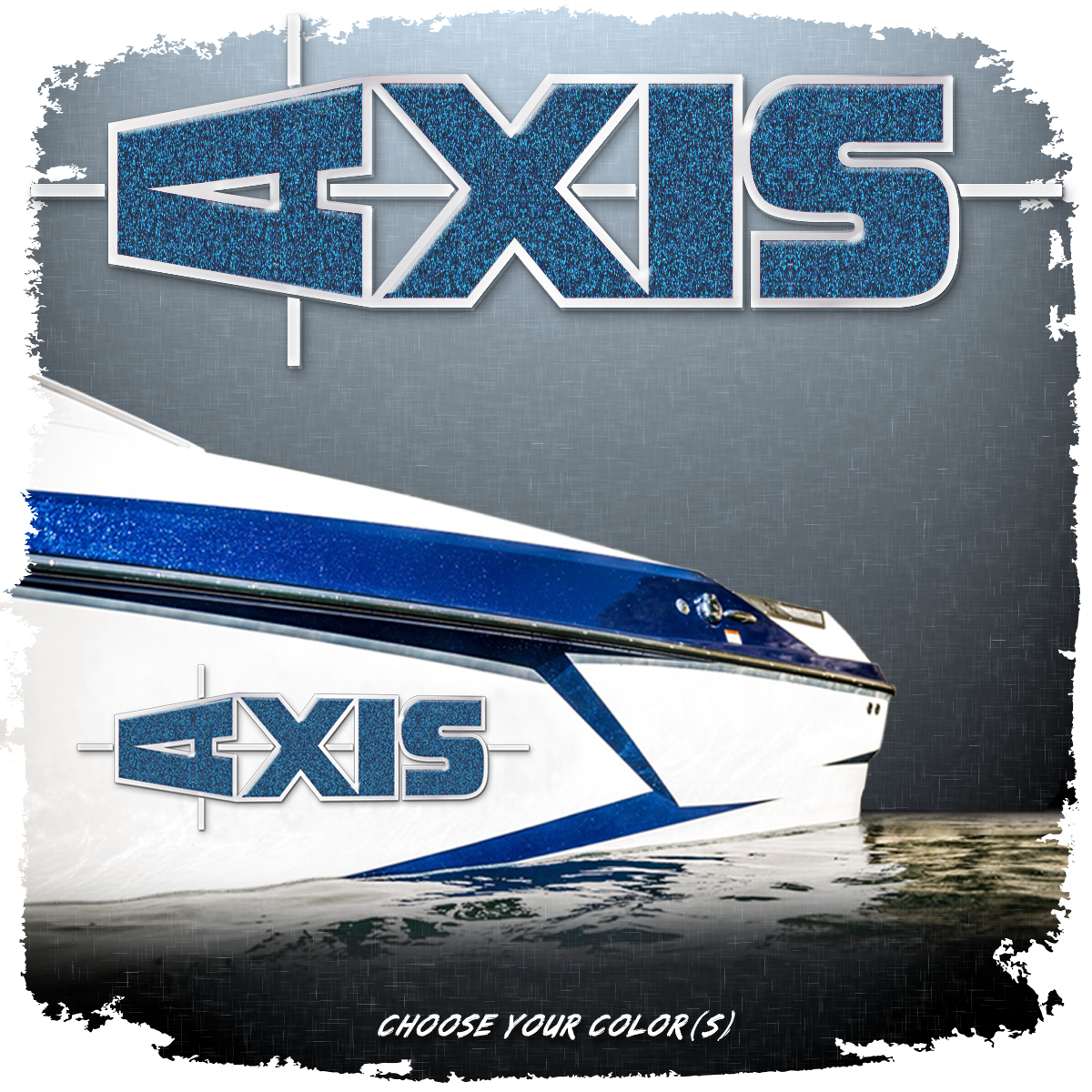 Domed Axis Hull Decal - Solid Version, Choose Your Own Colors (1 Decal Included)