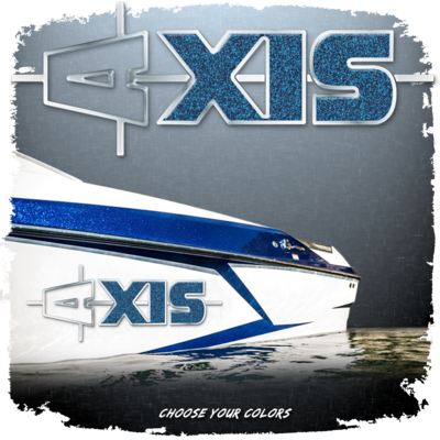 Domed Axis Hull Decal - Outline Version, Choose Your Own Colors (1 Decal Included)