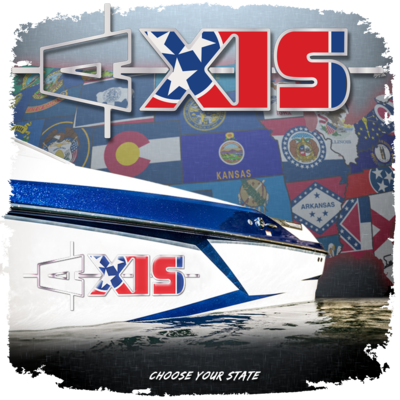 Domed Axis Hull Decal - State & Country Flags (1 Decal Included)