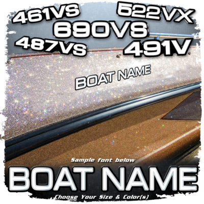 Domed Boat Name in the Ranger Model Number Font, Choose Your Own Colors