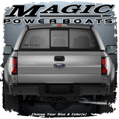 Domed Magic Powerboats Window Decal, Choose your size and color (1 Decal Included)