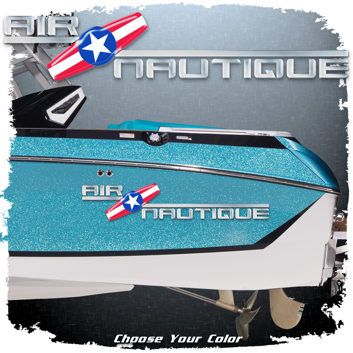 Domed 2000-05 Air Nautique Decal, Choose Your Color (1 included)