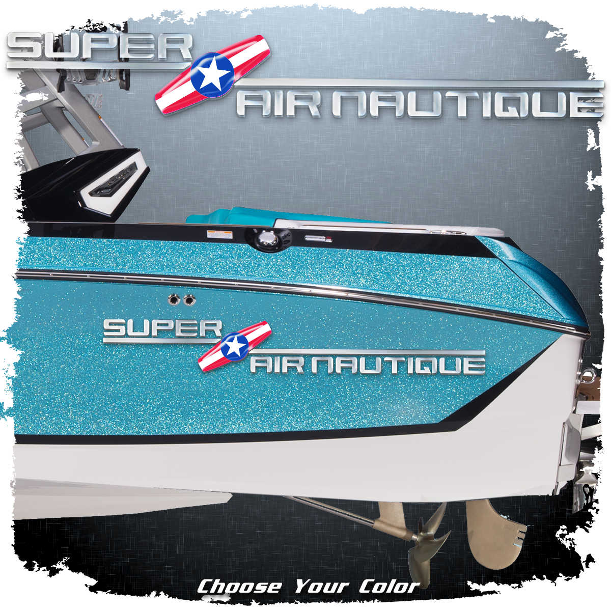 Domed 2000-05 Super Air Nautique Decal, Choose Your Color (1 included)
