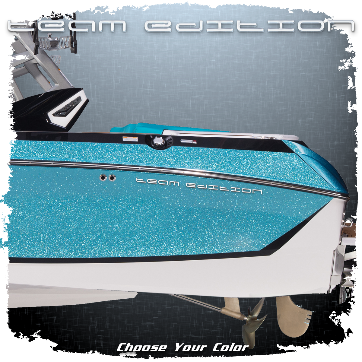 "Domed Nautique ""Team Edition"" Decal, Choose Your Color (1 included)"