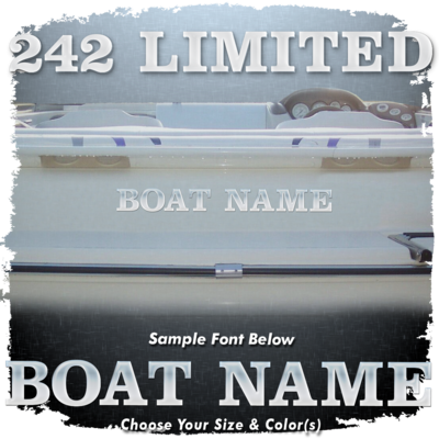 Domed Boat Name in the Yamaha