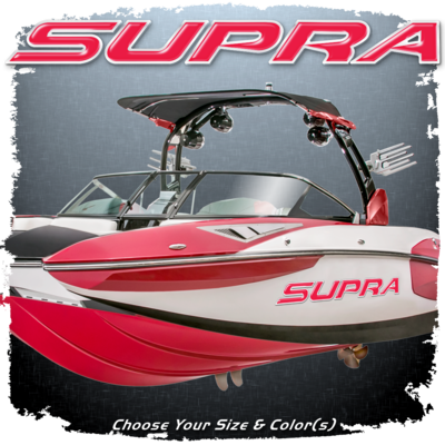 Domed Supra Decal, Choose Your Size & Color(s)