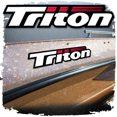 Domed Triton Decal, Choose Your Size (1 Decal included)