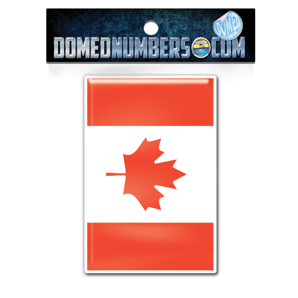 Canadian Flag Domed Decal, Choose Your Size