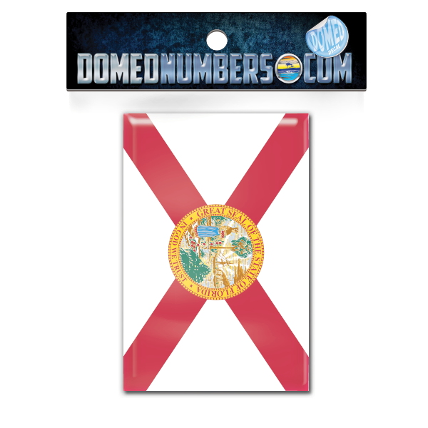 Florida Flag Domed Decal, Choose Your Size