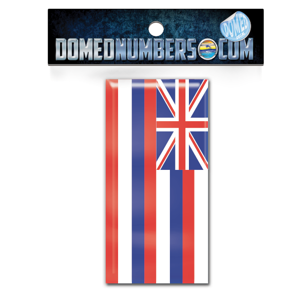 Hawaii Flag Domed Decal, Choose Your Size