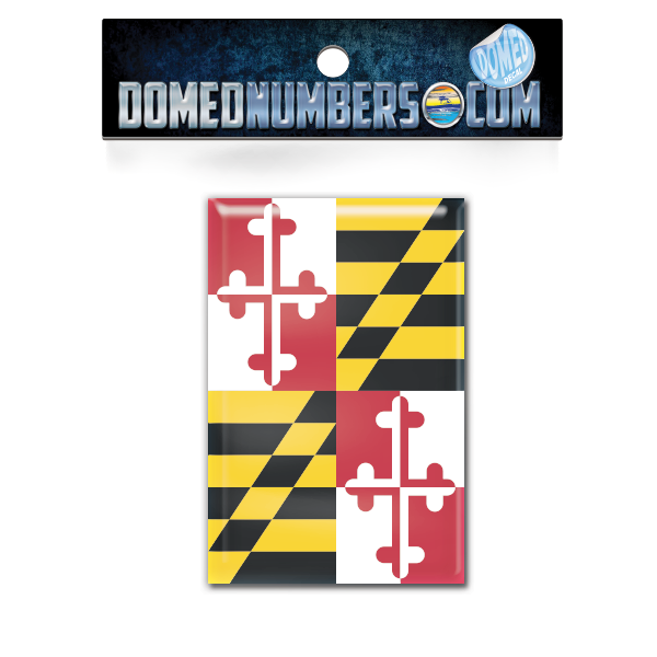 Maryland Flag Domed Decal, Choose Your Size