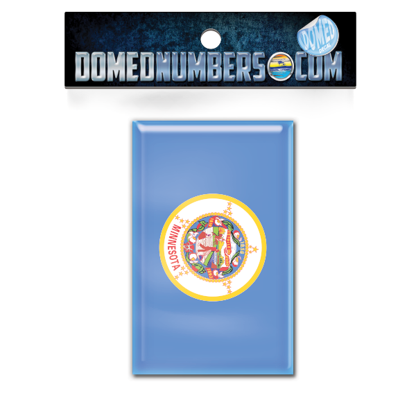 Minnesota Flag Domed Decal, Choose Your Size