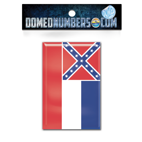 Mississippi Flag Domed Decal, Choose Your Size
