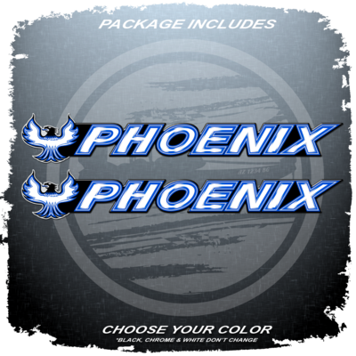 Domed Phoenix Boats Full Color Decal Set