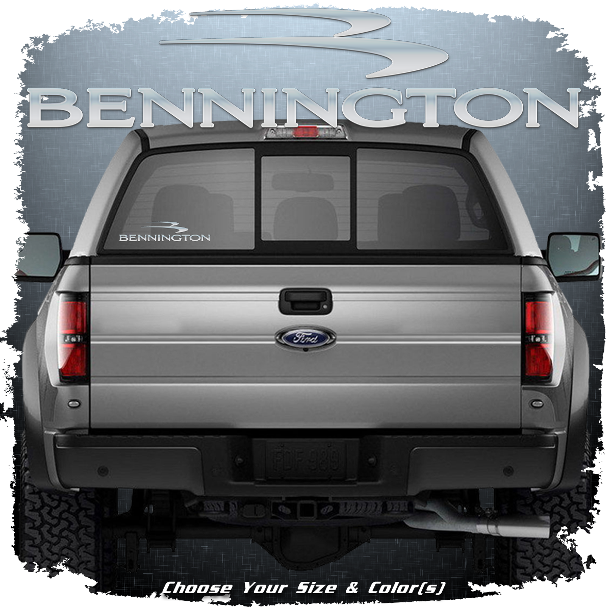 Domed Bennington Window decal, Choose Your Size & Color