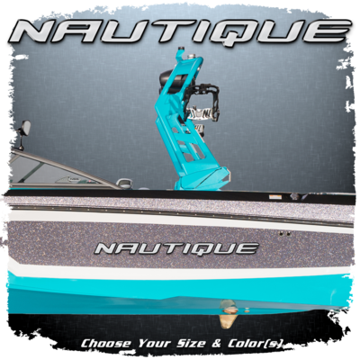 Domed Nautique Decal, Choose Your Size & Colors (1 included)