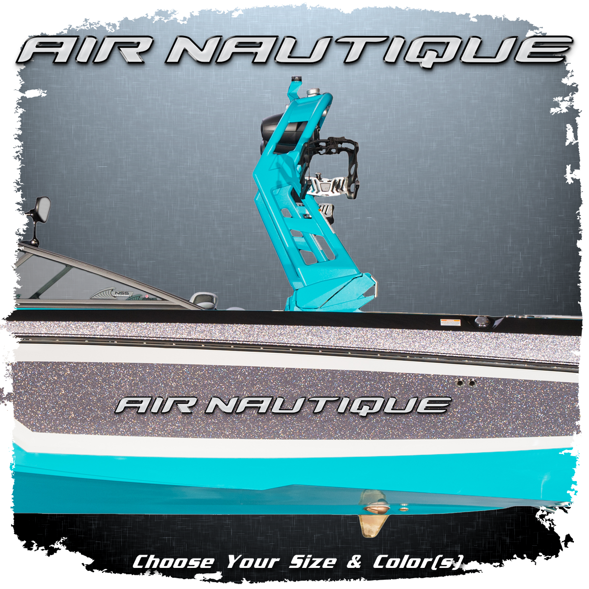Domed Air Nautique Decal, Choose Your Size & Colors (1 included)
