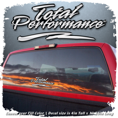 Domed Total Performance Decals, Choose Your Colors