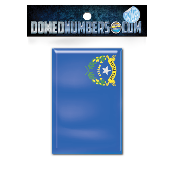 Nevada Flag Domed Decal, Choose Your Size