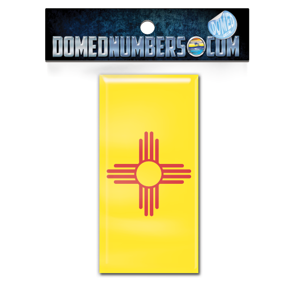 New Mexico Flag Domed Decal, Choose Your Size