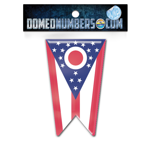 Ohio Flag Domed Decal, Choose Your Size