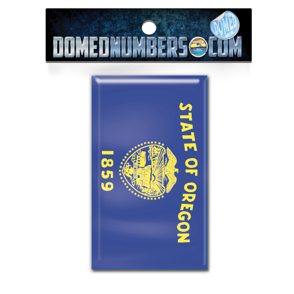 Oregon Flag Domed Decal, Choose Your Size