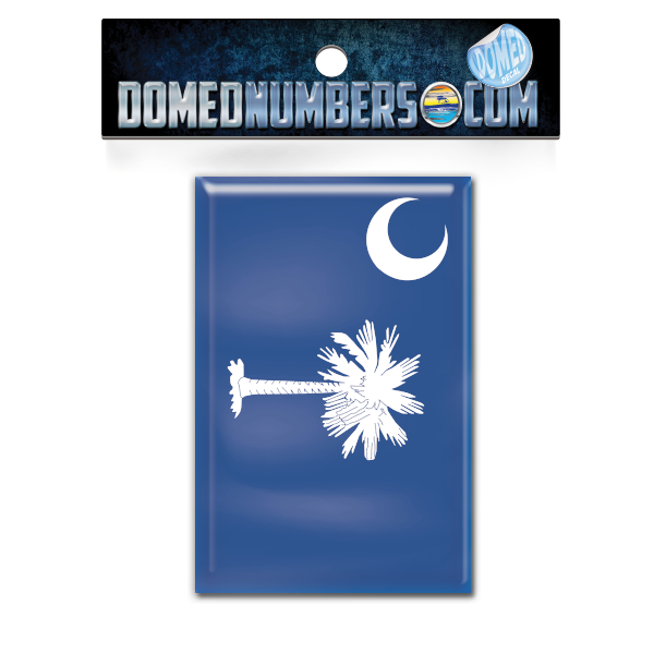 South Carolina Flag Domed Decal, Choose Your Size