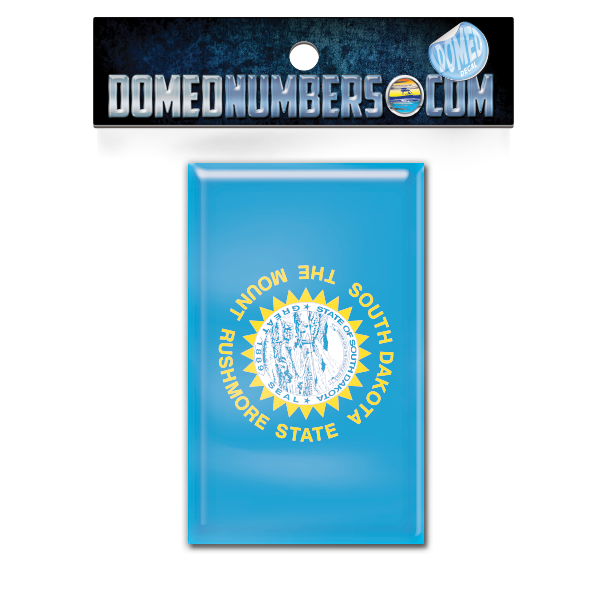 South Dakota Flag Domed Decal, Choose Your Size